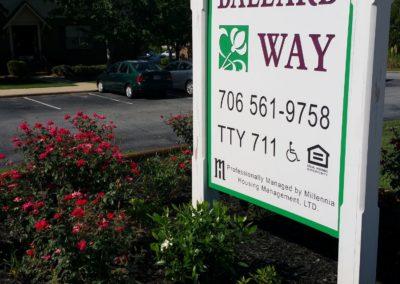 Ballard Way Welcome Sign